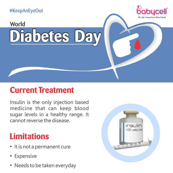 Insulin therapy is the only current form of medication for diabetes management but it cannot reverse the disease. #KeepAnEyeOut