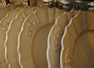 Our crown dinnerware!  Laurieannas.com