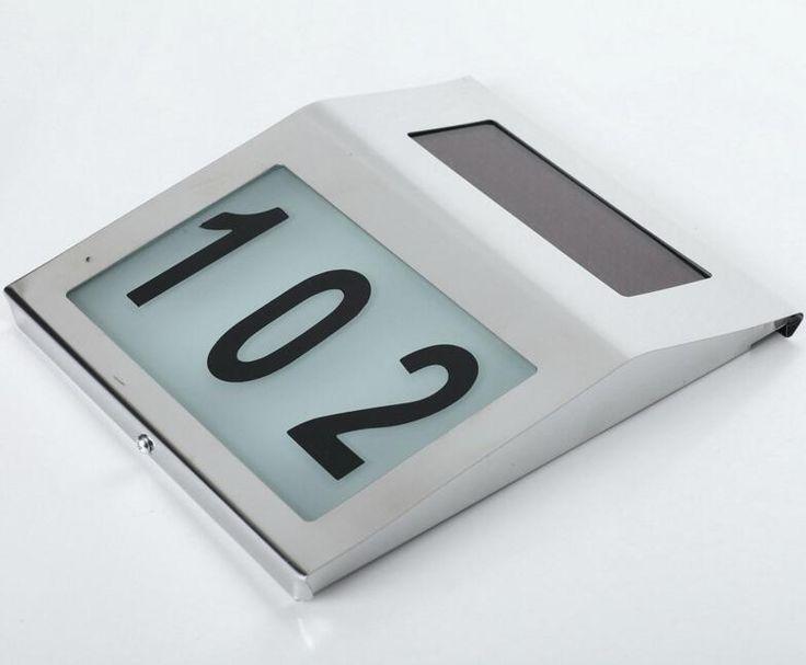سلامة عدد والآداب doorplate الشمسية في ضوء تديرها ضوء المقاوم للصدأ البيت شقة رقم لوحة مصباح