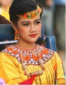 Toraja girl - mountainous region of South Celebes Island - Indonesia