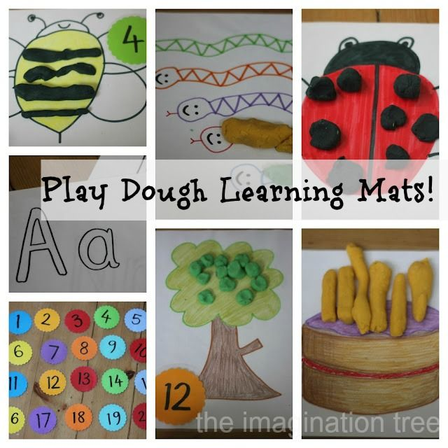 Play dough learning mats- so many potential ideas here!
