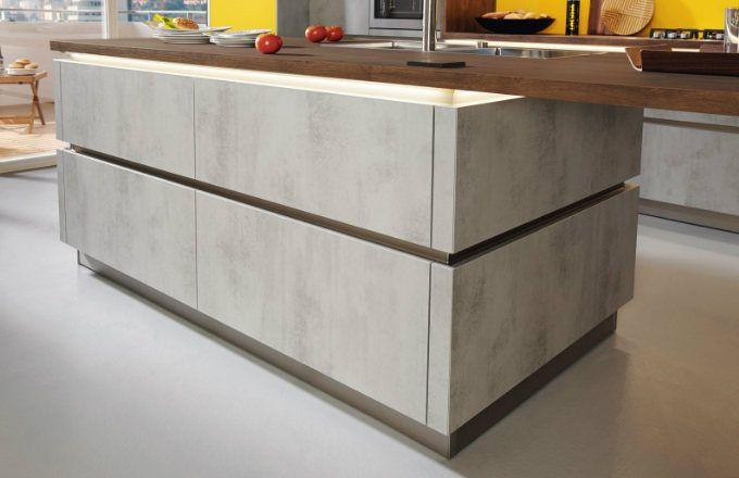 Perfektní kuchyně pro muže, kteří vaří Elba v provedení beton - alno küchen trier