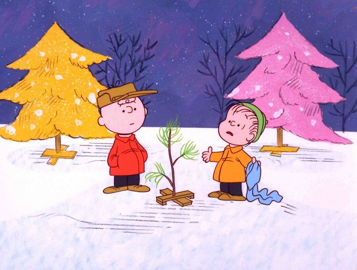 "When Sue watched ""A Charlie Brown Christmas"" this scene inspired her to never settle for less than yellow and pink formal wear."