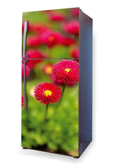 Fototapeta na lodówkę Wally #fridge #wally #homeinspiration #homedecor #interior #interiordesign #design #kitchenideas #kitcheninspiration #kitchendecor #flowers #pinkflowers