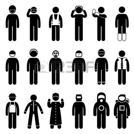 Worker Construction Proper Safety Attire Uniform Wear Cloth photo