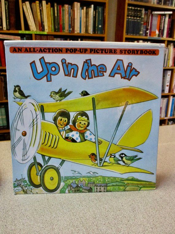 1986 1st Ed POP UP BOOK - Up In The Air - Vintage Picture