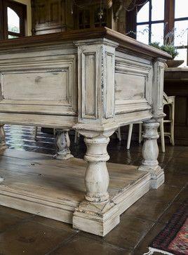 Rustic Decor white wash | Rustic Kitchen Island Design Ideas, Pictures, Remodel, and Decor ...