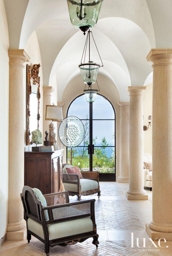 White And Cream Mediterranean Hall Victorian Chairs