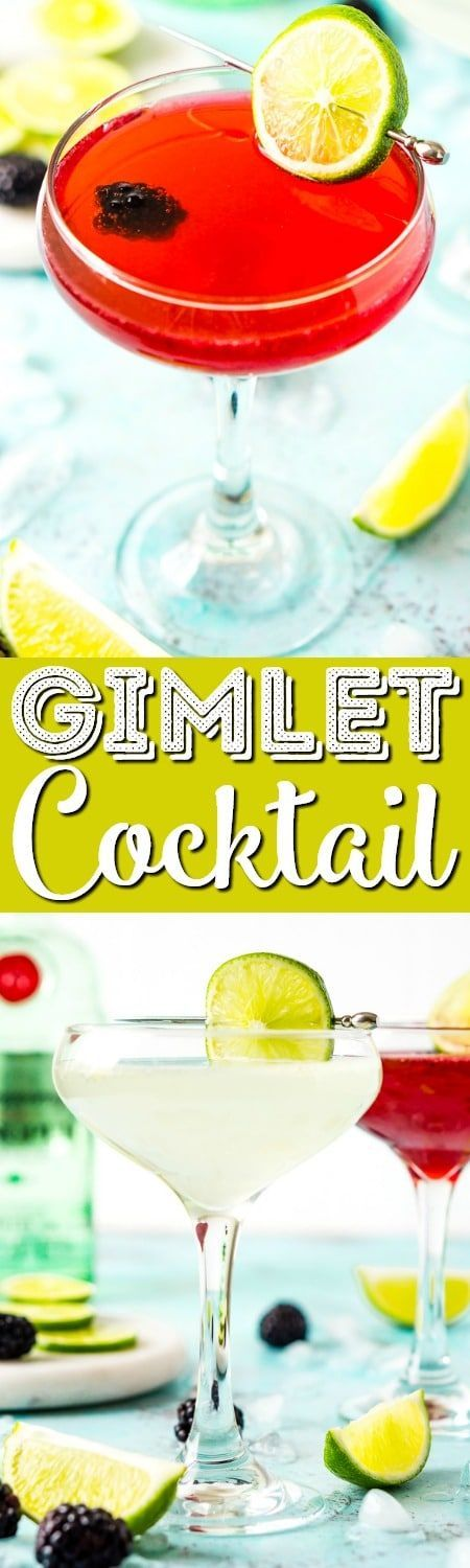 This Gimlet recipe is a classic cocktail made with gin, lime juice, simple syrup, and club soda for a light and refreshing beverage. #gin #cocktail #drink #recipe #alcohol