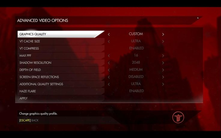 Wolfenstein: The New Order Performance Issues