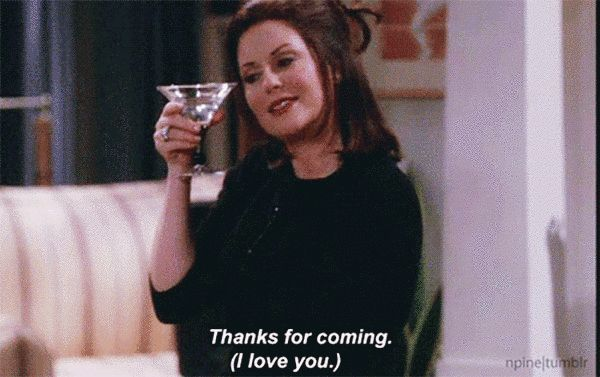 "And finally, when the only romantic feelings she harbored were for alcohol. | Community Post: 21 Times Karen Walker From ""Will And Grace"" Spoke To Your Soul"