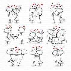 Amor de matrimonio invitaciones San Valentín día por TeoldDesign