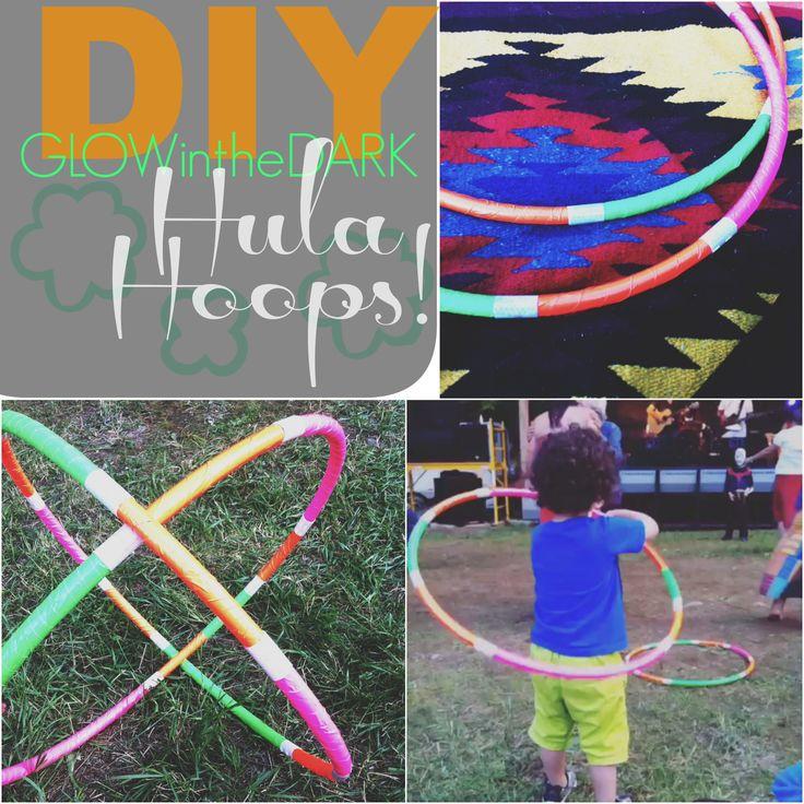 DIY Glow In The Dark Hula Hoops