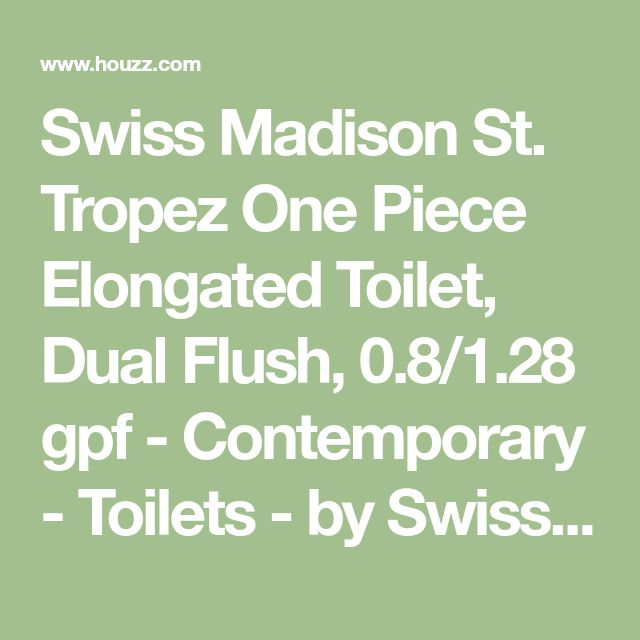 Swiss Madison St. Tropez One Piece Elongated Toilet, Dual Flush, 0.8/1.28 gpf - Contemporary - Toilets - by Swiss Madison LLC
