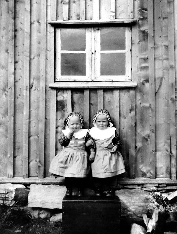 Nr. 40. Tvillingane i Nordre Kolsrud, 1935. Utlånt av Torpo Fotosamling