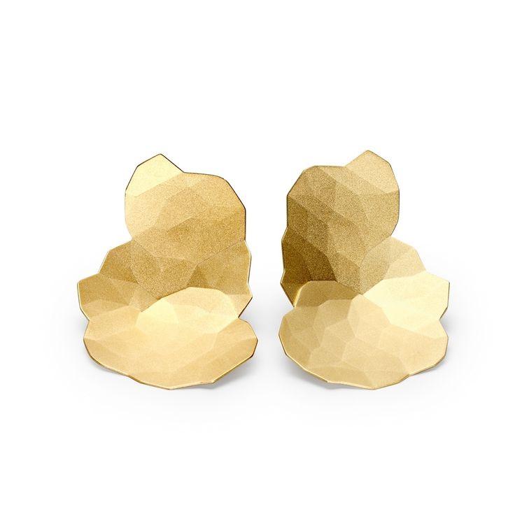 Niessing - Gold Topia Earrings - ORRO Contemporary Jewellery Glasgow - www.orro.co.uk