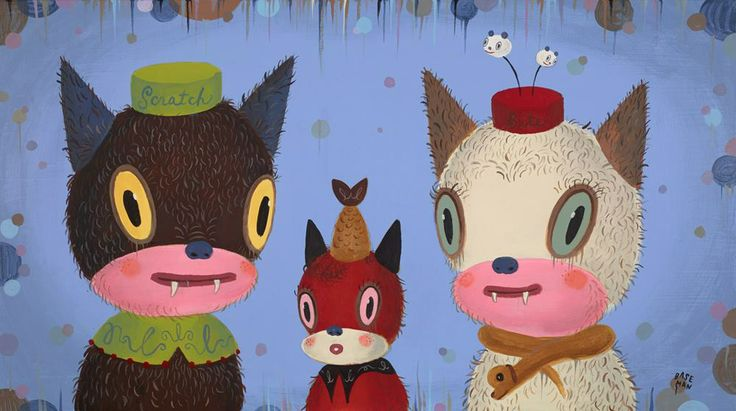 Gary Baseman, a contribution to the Cat Art Fair in Los Angeles earlier this year.