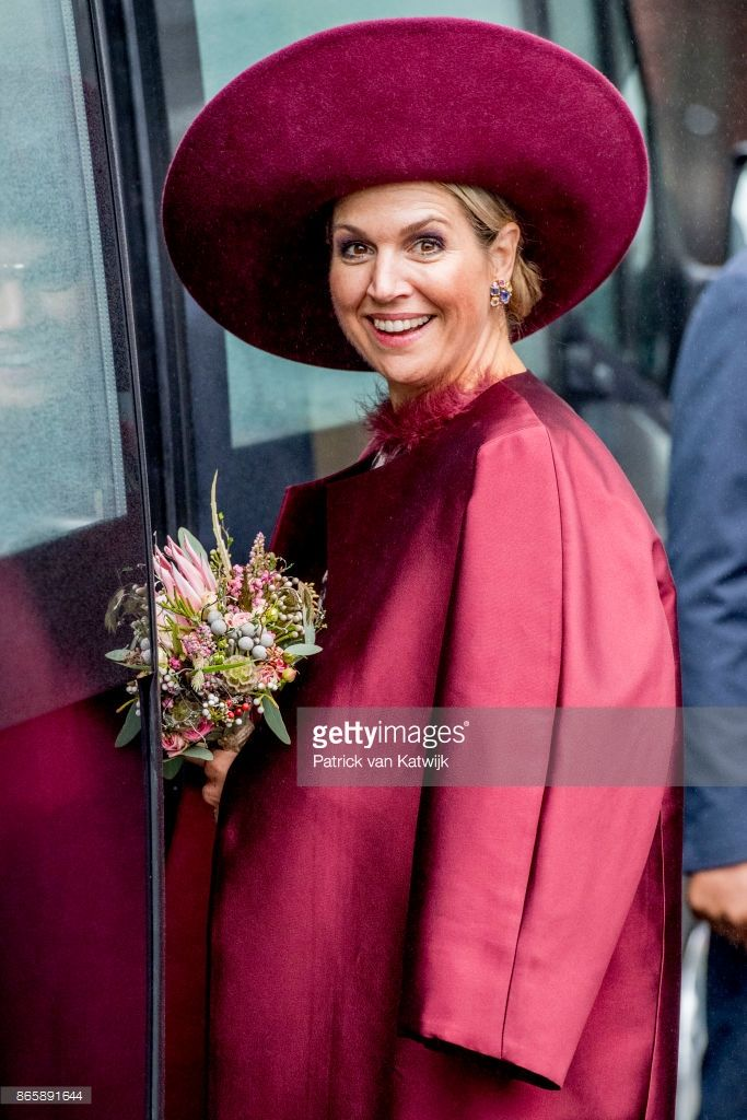 Queen Maxima of The Netherlands visits the water pomp system Gemaal Eemnes during there region visit to Eemland on October 24, 2017 in Eemnes, Netherlands.