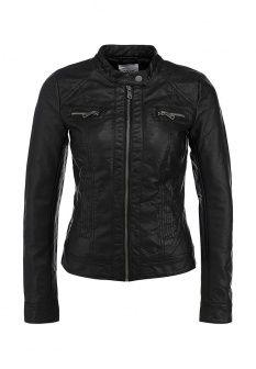 Куртка кожаная Only, цвет: черный. Артикул: ON380EWDOP23. Женская одежда / Верхняя одежда / Кожаные куртки