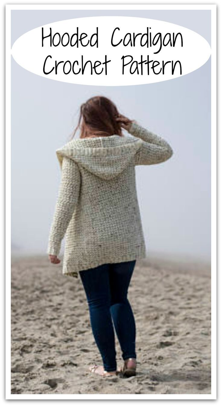 The Albatross Hooded Cardigan Crochet Pattern. Instant PDF download. #ad #affiliate #crochet #pattern