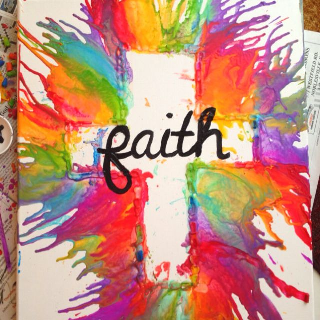 My creative crayon art - faith