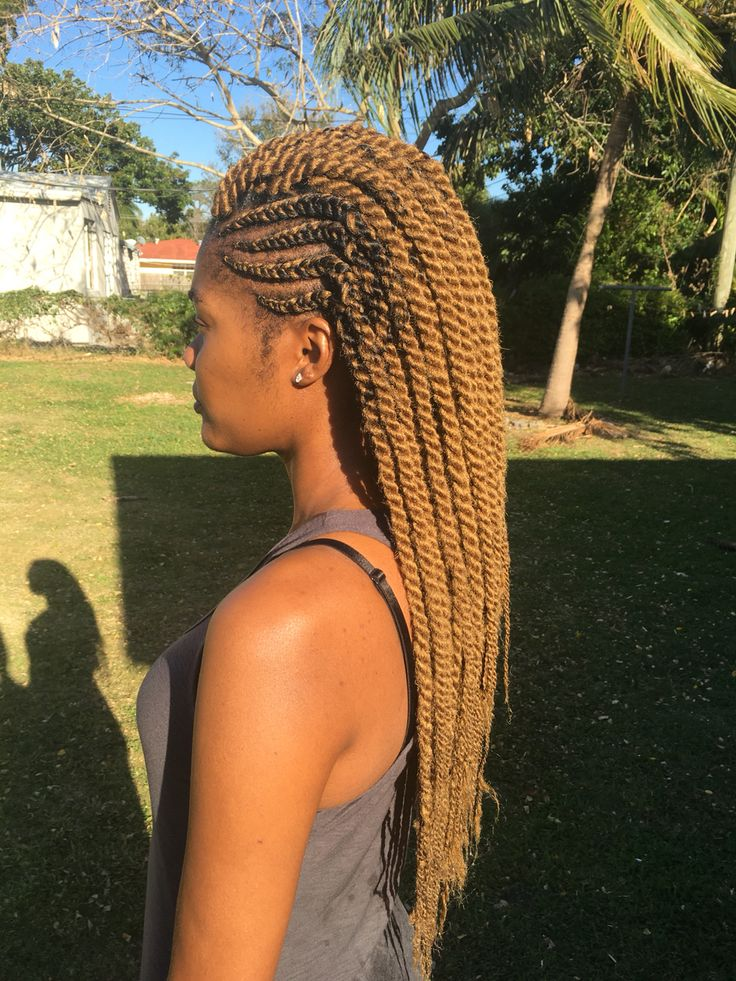 Ghana braids with medium Havana twists