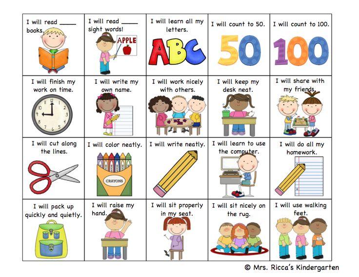Goal Setting Checklist FREEBIE! (Mrs. Ricca's Kindergarten)