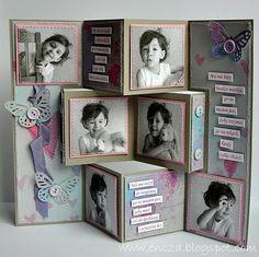 handmade card from ENCZOWO: Składak ... fancy fold card ... photo gallery look ... fab card!!