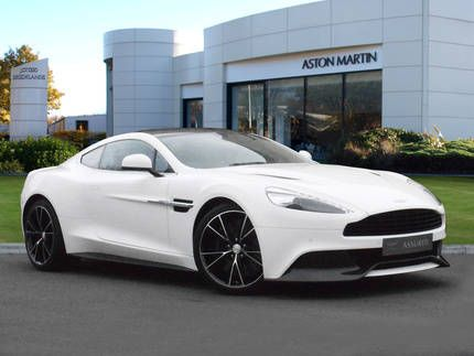 Used 2013 ( reg) Stratus White Aston Martin Vanquish 2+2 for sale on RAC Cars
