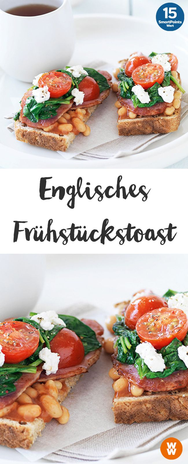 Englisches Frühstückstoast | 4 Portionen, 15 SmartPoints/Portion, Weight Watchers, Frühstück, fertig in 10 min.