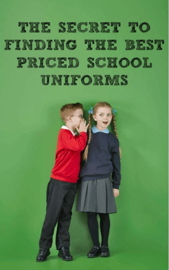 The secret to finding the best priced school uniforms. Where to shop?