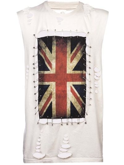 ANY OLD IRON - sleeveless union Jack t-shirt 6