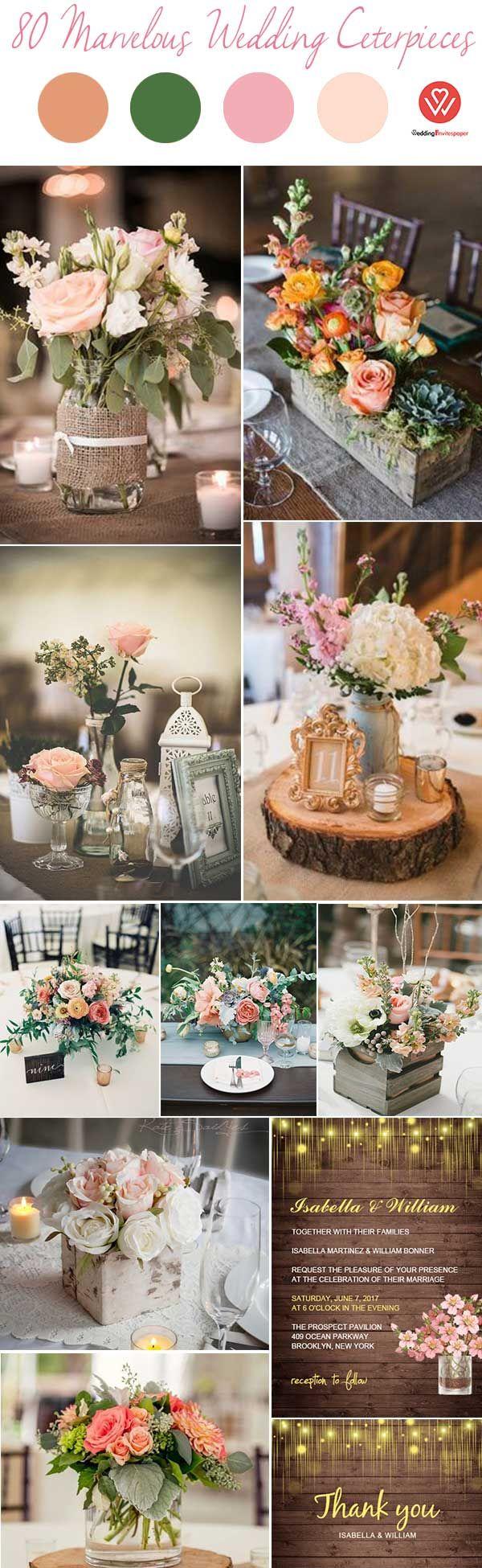 80 MARVELOUS DIY RUSTIC & CHEAP WEDDING CENTERPIECE IDEAS - Wedding Invites Paper rustic fall wedding centerpiece/ vintage wedding invitations/ shabby chic fall wedding decorations