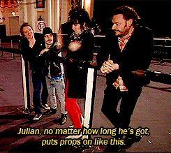 Making fun of Julian backstage