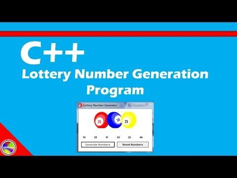 C++ Lottery Number Generator - (More info on: https://1-W-W.COM/lottery/c-lottery-number-generator/)