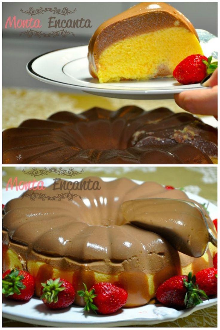 Pudim bicolor de chocolate e maracujá, Uma explosão de sabores, equilíbrio mais que perfeito entre o 'doce' do chocolate e o 'azedinho' do maracujá.