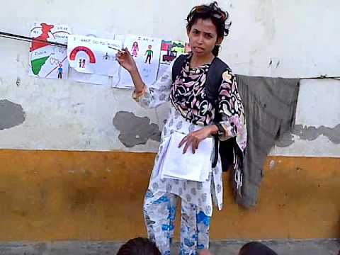 Teaching street children India