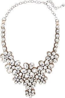 Valentino Floral Glass Crystal Necklace