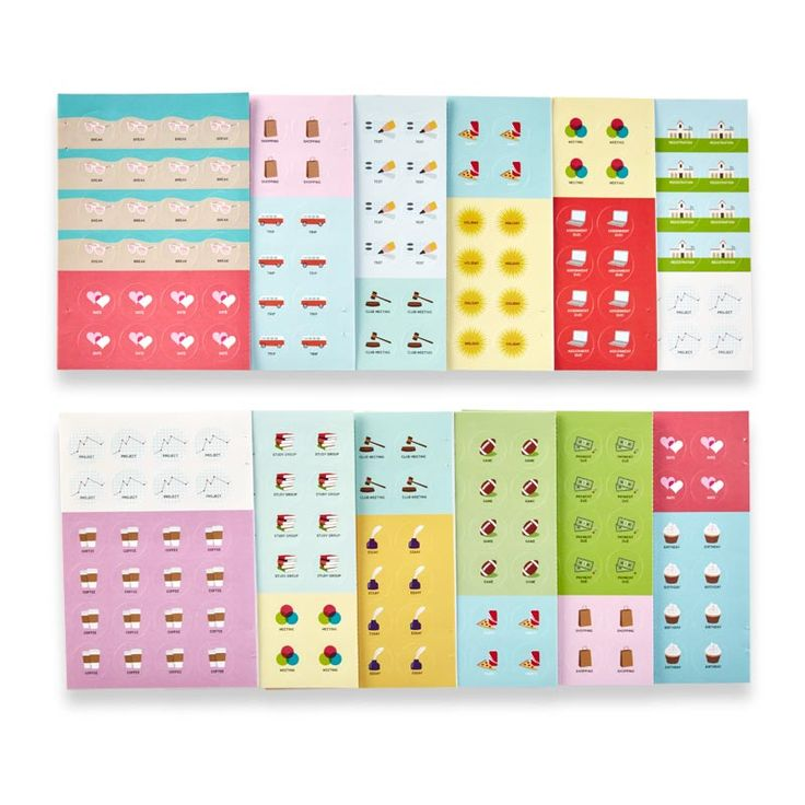 Calendar Stickers School Edition: Academic-themed adhesive stickers for your planner or agenda