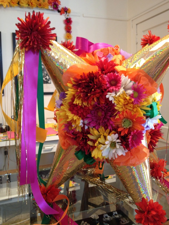 Zinnia Embellished Pinata  We could make this for Fiesta Party