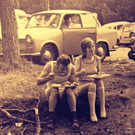 Urlauber auf Rügen, 1974.