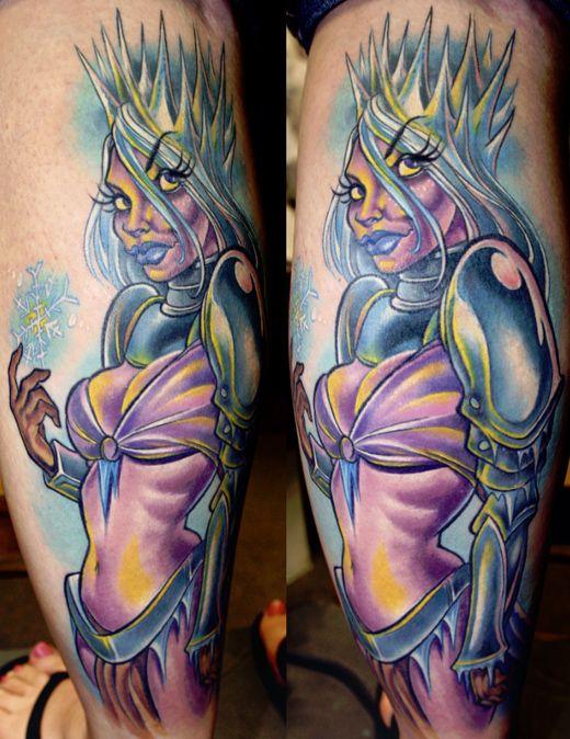 Pin up manga #tattoo