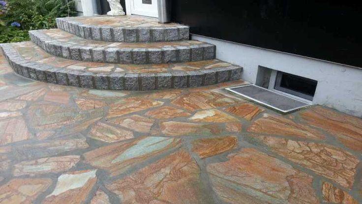 polygonalplatten karistou braun tiger geostones natursteine pinterest hofeinfahrt. Black Bedroom Furniture Sets. Home Design Ideas