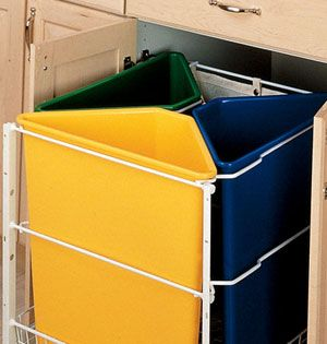 Top 10 Essentials for an Organized Home ; A Trash Disposal System.