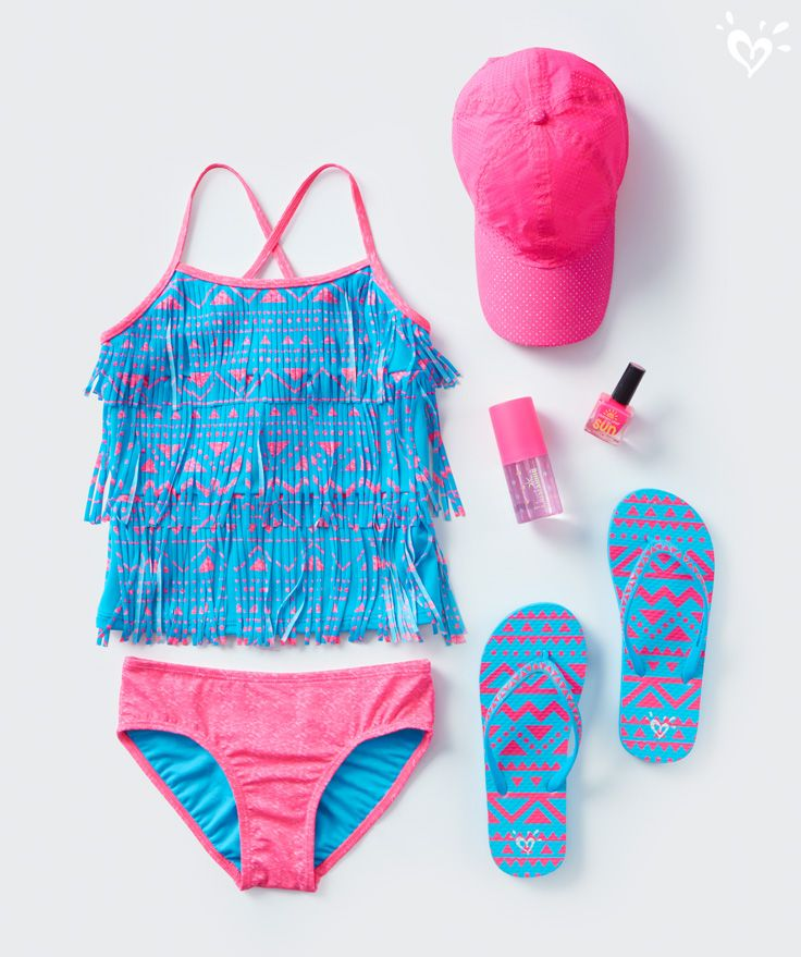 Polished look. Match your swim style down to the fingertips.