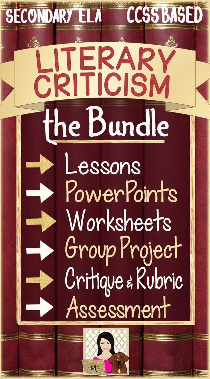 """1) an editable introduction to literary criticism explaining the purpose and process of criticism - critiques (written broadly enough to relate to criticism of any art form), 2) a """"generic"""" and editable student worksheet guiding them through a critical review of ANY work of fiction 3) Group Critique Project 4) Crossword Puzzle 5) Introductory PowerPoint on Aristotle 6) Culminating Assignment: Writing a Literary Critique with Rubric 7) Summative Assessment."""