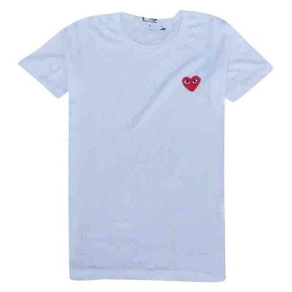 Pre-owned Comme Des Garcons White Cotton T-Shirt ($110) ❤ liked on Polyvore featuring men's fashion, men's clothing, men's shirts, men's t-shirts, men clothing t-shirts, white, mens white shirts, mens cotton t shirts, mens white cotton shirts and mens white t shirts