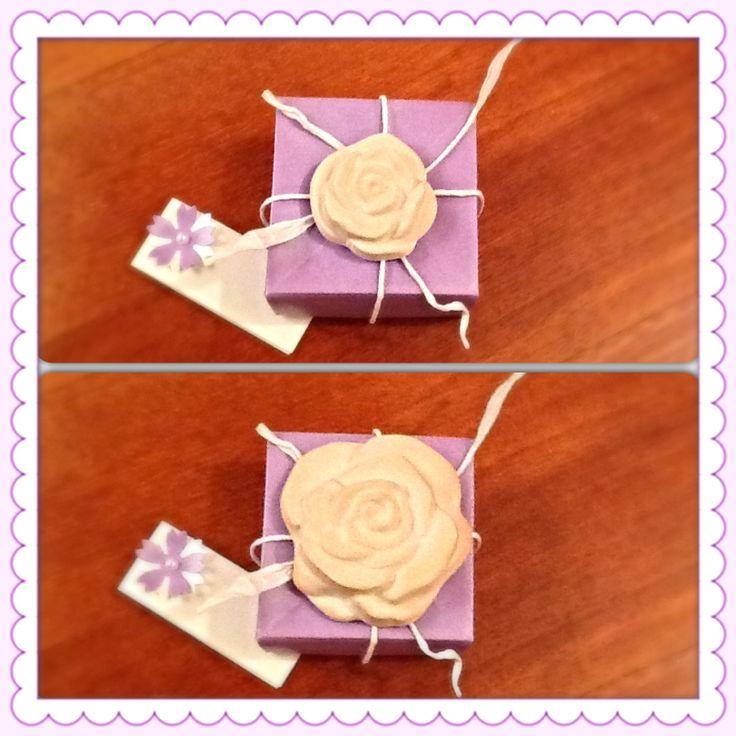 Scatolina origami con gessetto profumato