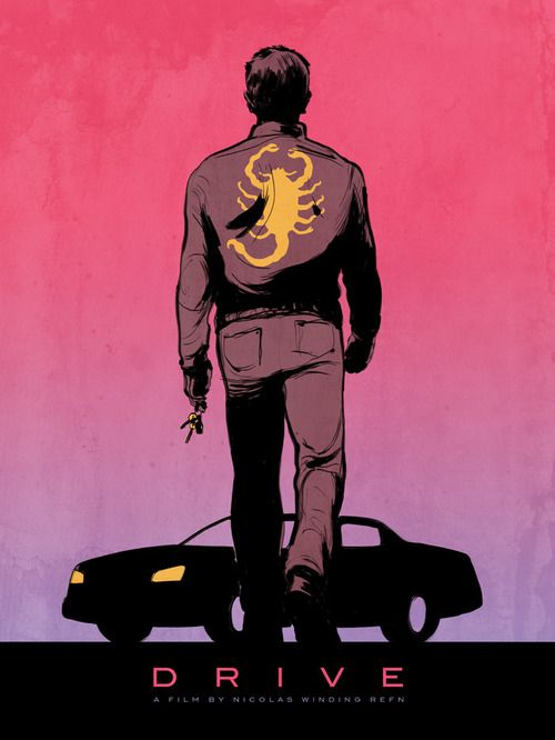 drive movie poster painting