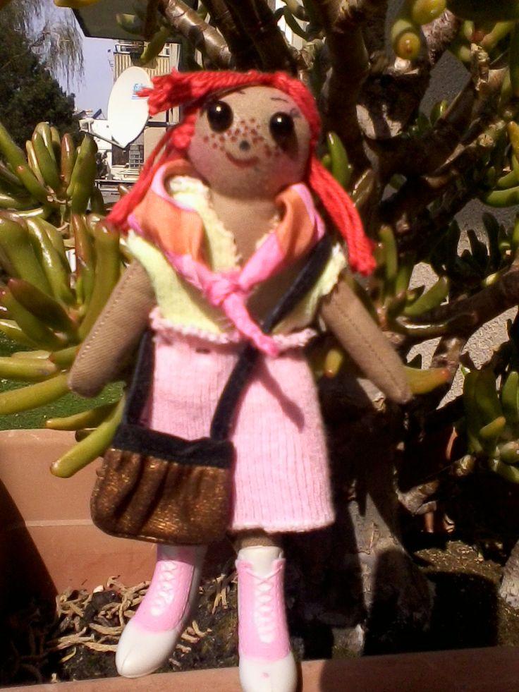 """ Aranka"" loves the sun <3  #handmade #clothdoll from @ Rüthli Stone"